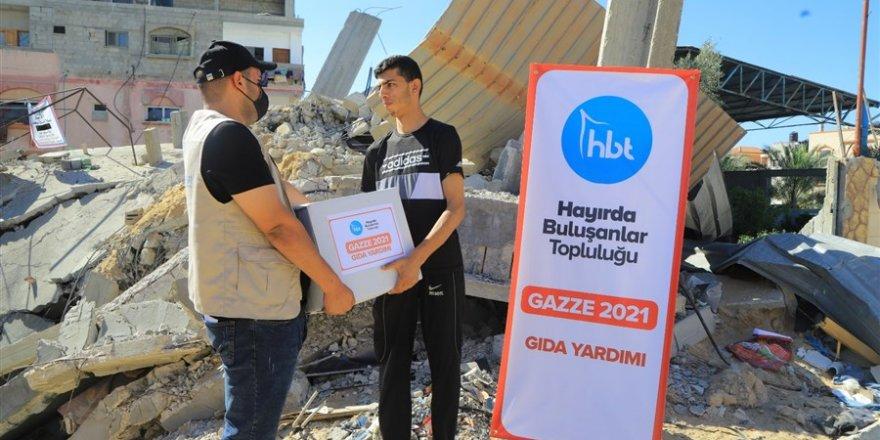 Hayırda Buluşanlar Topluluğu Gazze'de gıda dağıttı