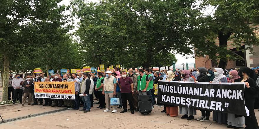 Darbeci Sisi yönetiminin idam kararları Ankara'da protesto edildi