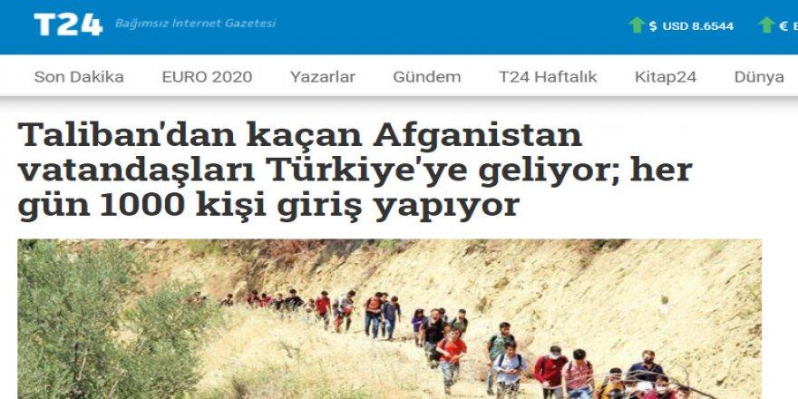 """T24'ün """"Taliban'dan kaçan Afganlar"""" yalanı!"""