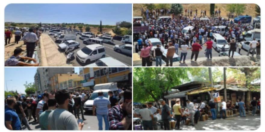 Adıyaman'da bakanlığın tütün düzenlemesini protesto eden çiftçiler gözaltına alındı