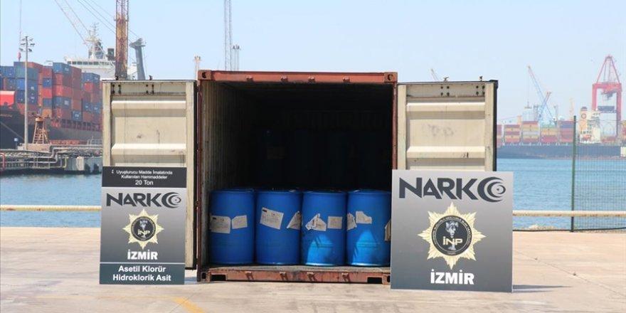 Çin'den getirilen bir konteynerde uyuşturucu yapımında kullanılan kimyasal madde ele geçirildi