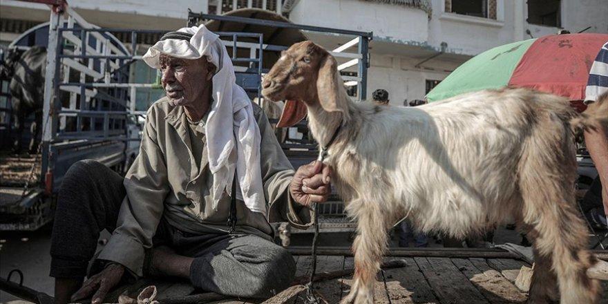 Gazzeliler kötüleşen ekonomik şartlara rağmen kurban kesebilmek için tüm imkanlarını zorluyor