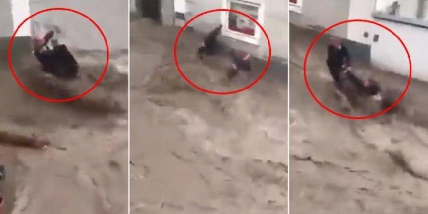 Irkçılar izlesin! Avusturyalı Eisenmann, Türk komşusunu kurtarmak için sel suyuna atladı!