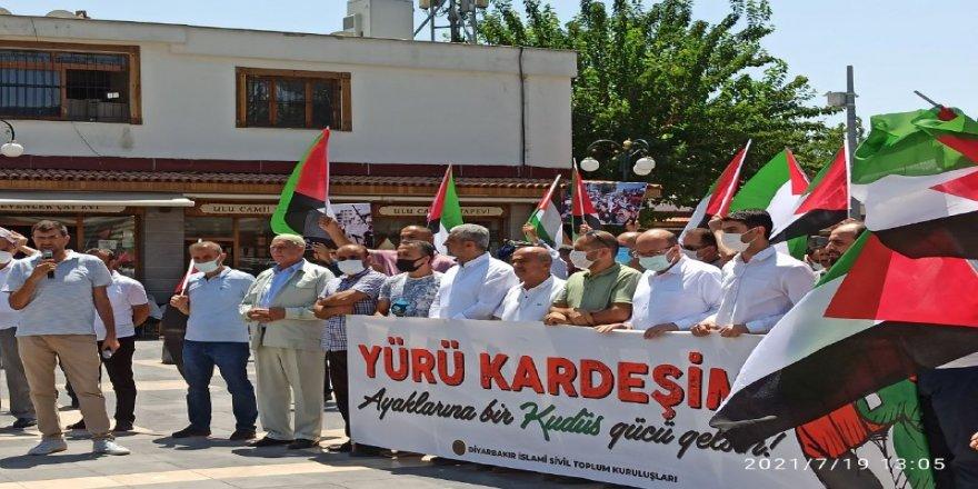 Diyarbakırlı Müslümanlardan Siyonist işgalcilerin Mescid-i Aksa'daki işgal planlarına tepki