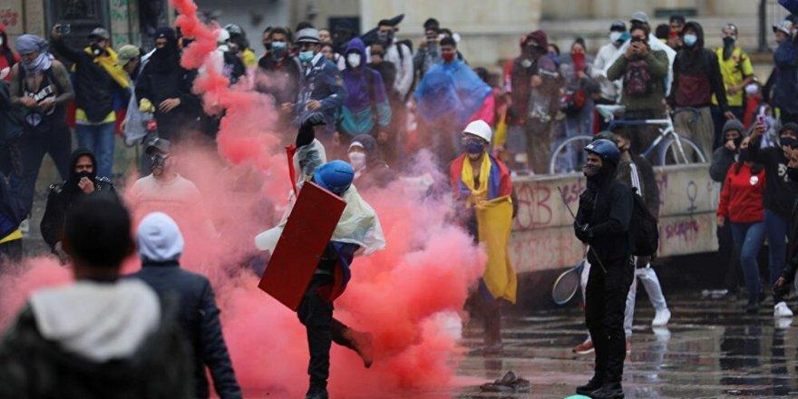 Kolombiya'da hükümet karşıtı gösteriler sürüyor
