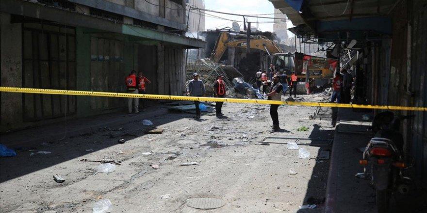 Gazze'de bir evde meydana gelen patlamada 1 kişi öldü, 10 kişi yaralandı