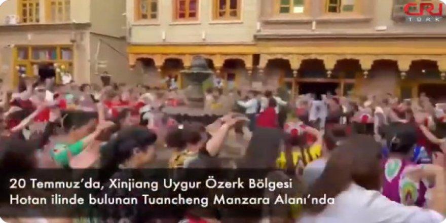 Çin işgali altındaki Hotan'da bayram artık böyle kutlanıyor!