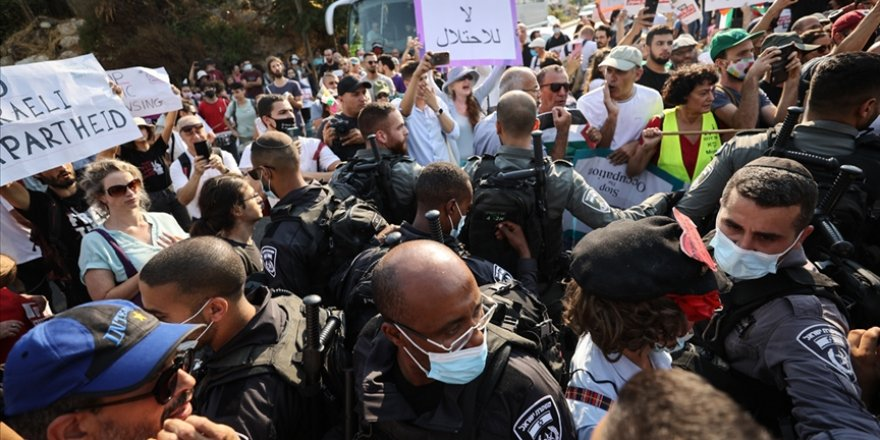 Şeyh Cerrah Mahallesi'nde işgal karşıtı gösteri