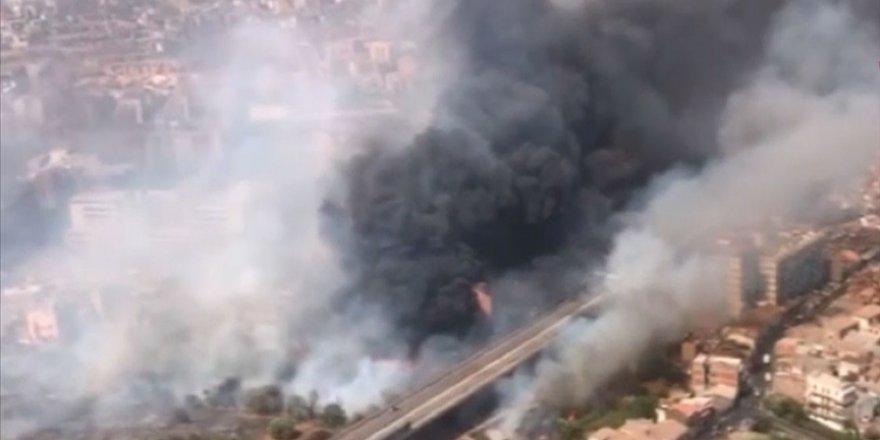 İtalya'nın Sicilya adası orman yangınlarıyla mücadele ediyor