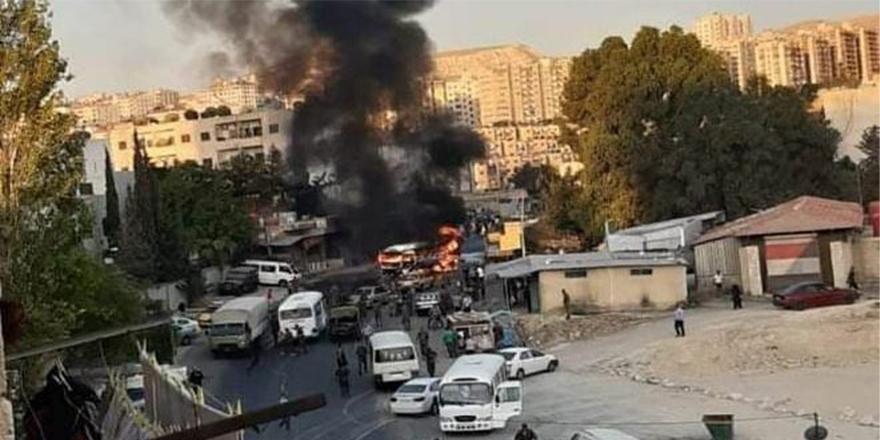 Şam'da askeri otobüs patladı