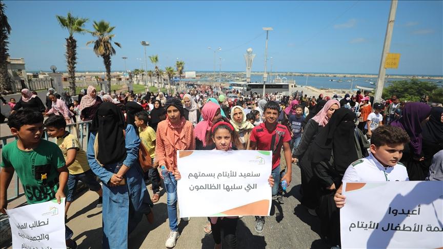 Gazze'de yetim çocuklarla dayanışma etkinliği düzenlendi