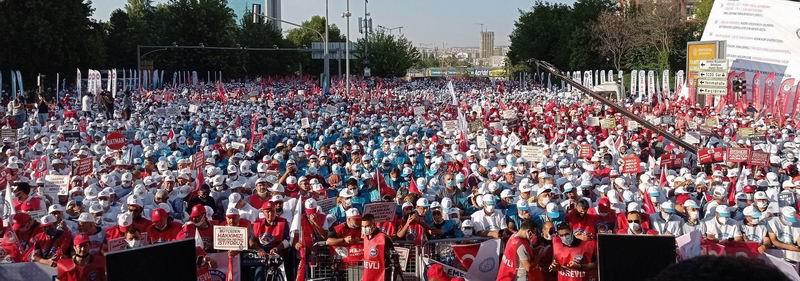 Memur-Sen'den Ankara'da 15 bin kişilik eylem