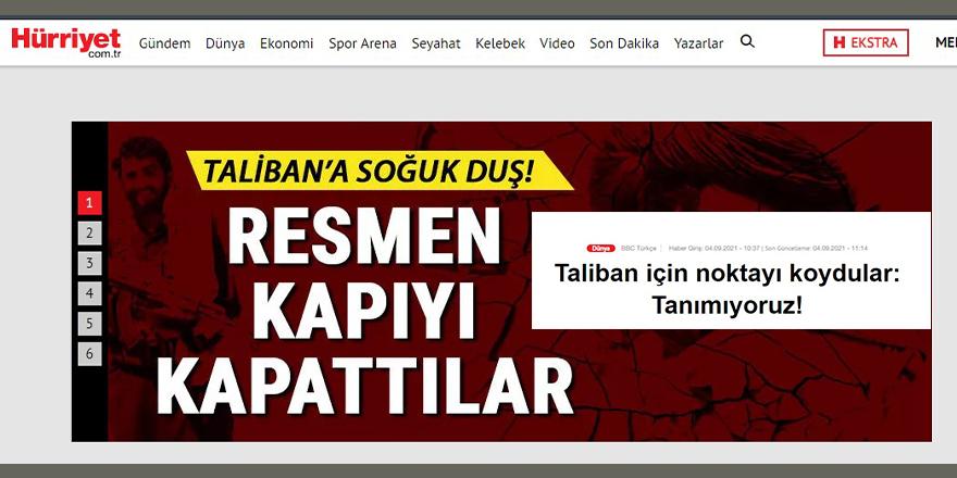 'AB temsilcisi, Taliban'ı tanımadan ilişki kurarız' derken Hürriyet niye bu kadar seviniyor?
