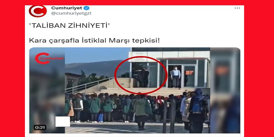 """Cumhuriyet'ten """"çarşaf"""" hazımsızlığı"""