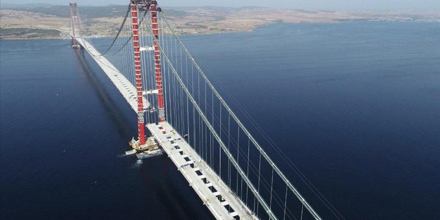 1915 Çanakkale Köprüsü'nün tabliye montajları tamamlanma aşamasına geldi