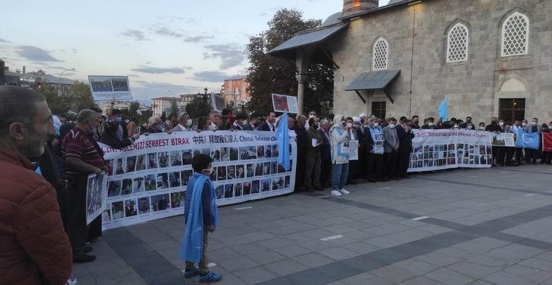Erzurum'dan Doğu Türkistan'daki Çin zulmüne tepki