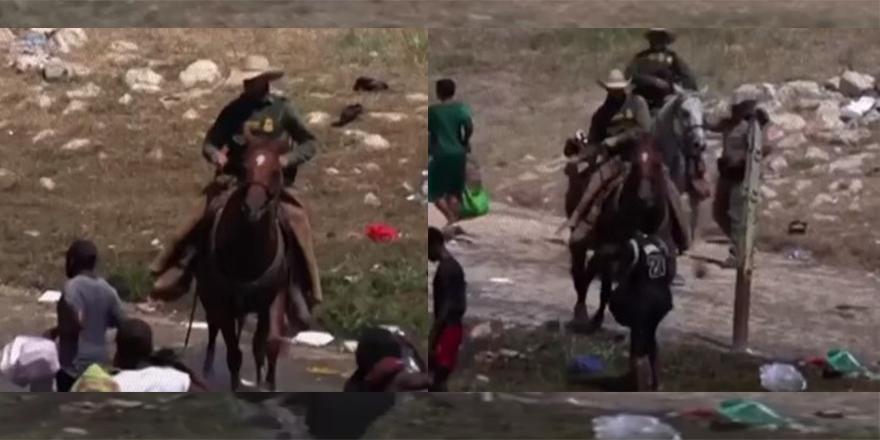 'Kovboy' giyimli Amerikan muhafızlar göçmenlere kırbaçla saldırdı