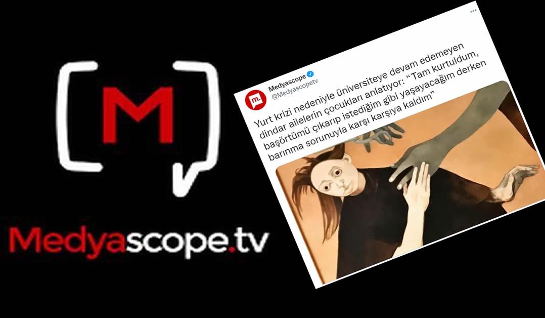 Taşeron Medyascope'un asparagas başörtüsü hikayeleri sınırları zorluyor!