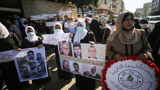Gazze'de Filistinli tutuklularla dayanışma gösterisi düzenlendi