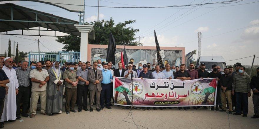 Gazze'de, Siyonist zindanlardaki tutuklu Filistinlilerle dayanışma eylemi