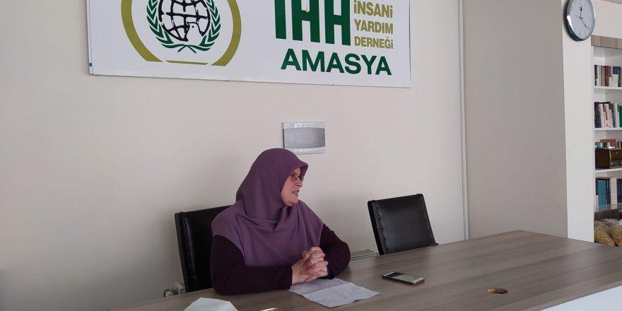 Amasya İHH kadın kolları komisyonu hayır sofrasında buluştu