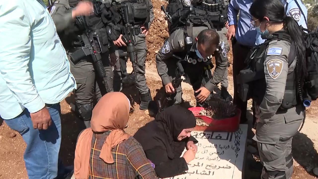 Kudüslü acılı anneden Siyonist İsrail'in Müslüman mezarlığındaki yıkımına tepki