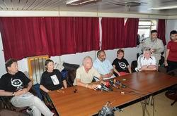Mavi Marmara'da Basın Toplantısı