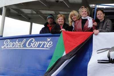 Rachel Corrie Gemisinede Saldırdılar