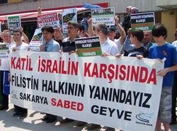 Sakarya'da İsrail ve BM'ye Protesto