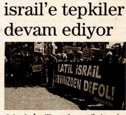 İsraile Tepkiler Devam Ediyor