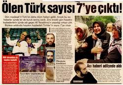 Ölen Türk Sayısı 7ye Çıktı