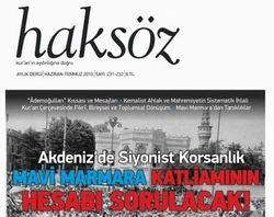 Haksöz Dergisi'nin Haziran-Temmuz Sayısı...