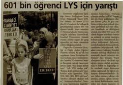 601 Öğrenci LYSde Ter Döktü