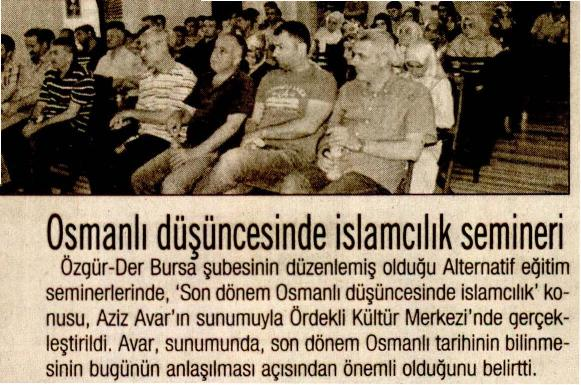 Osmanlı Düşüncesinde İslamcılık Semineri