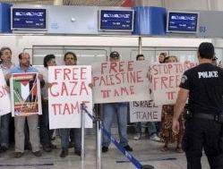 Yunan İşçiler İsrail Uçağına İzin Vermedi