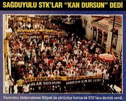 STK'lar Kardeşlik Ve Barış İçin Yürüdü