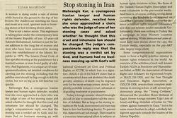 Stop Stoning In İran