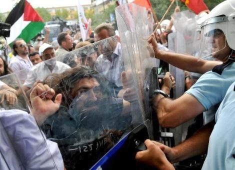 İsrailli Sporcular Ankarada Protesto Edildi