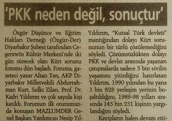 PKK Neden Değil, Sonuçtur