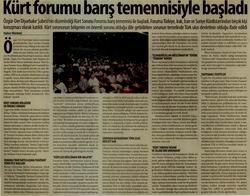 Kürt Forumu Barış Temennisiyle Başladı