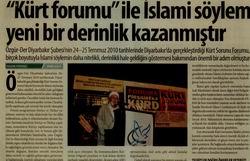 """Kürt Forumu"""" İle İslami Söylem Yeni Bir Derinlik Kazanmıştır"""