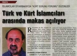 İslamcılar Diyarbakır'da Kürt Sorunu Forumu Düzenledi