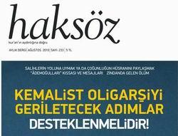 Haksöz Dergisinin Ağustos Sayısı...