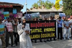 Bursada Başörtüsü Yasağı Protesto Edildi