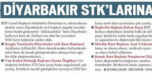 Diyarbakır STKlarına Her Yerden Destek Yağdı