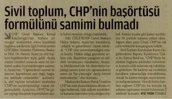 CHPnin Başörtüsü Formülünü Samimi Değil