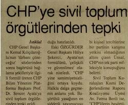 CHPye Sivil Toplum Örgütlerinden Tepki