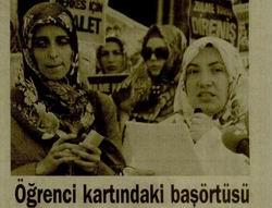 Öğrenci Kartındaki Başörtüsü Sorunu Protesto Edildi