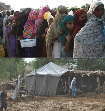 Pakistan'da Milyonlar Aç ve Açıkta