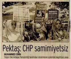 Pektaş: CHP Samimiyetsiz
